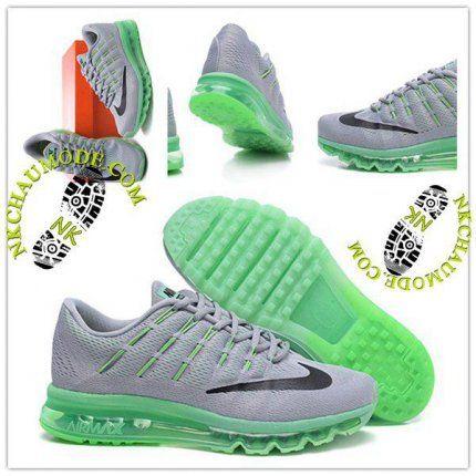 new styles c495b 5f4f7 Tendance   Nike Chaussure Sport Air Max 2016 Homme Gris Vert Clair