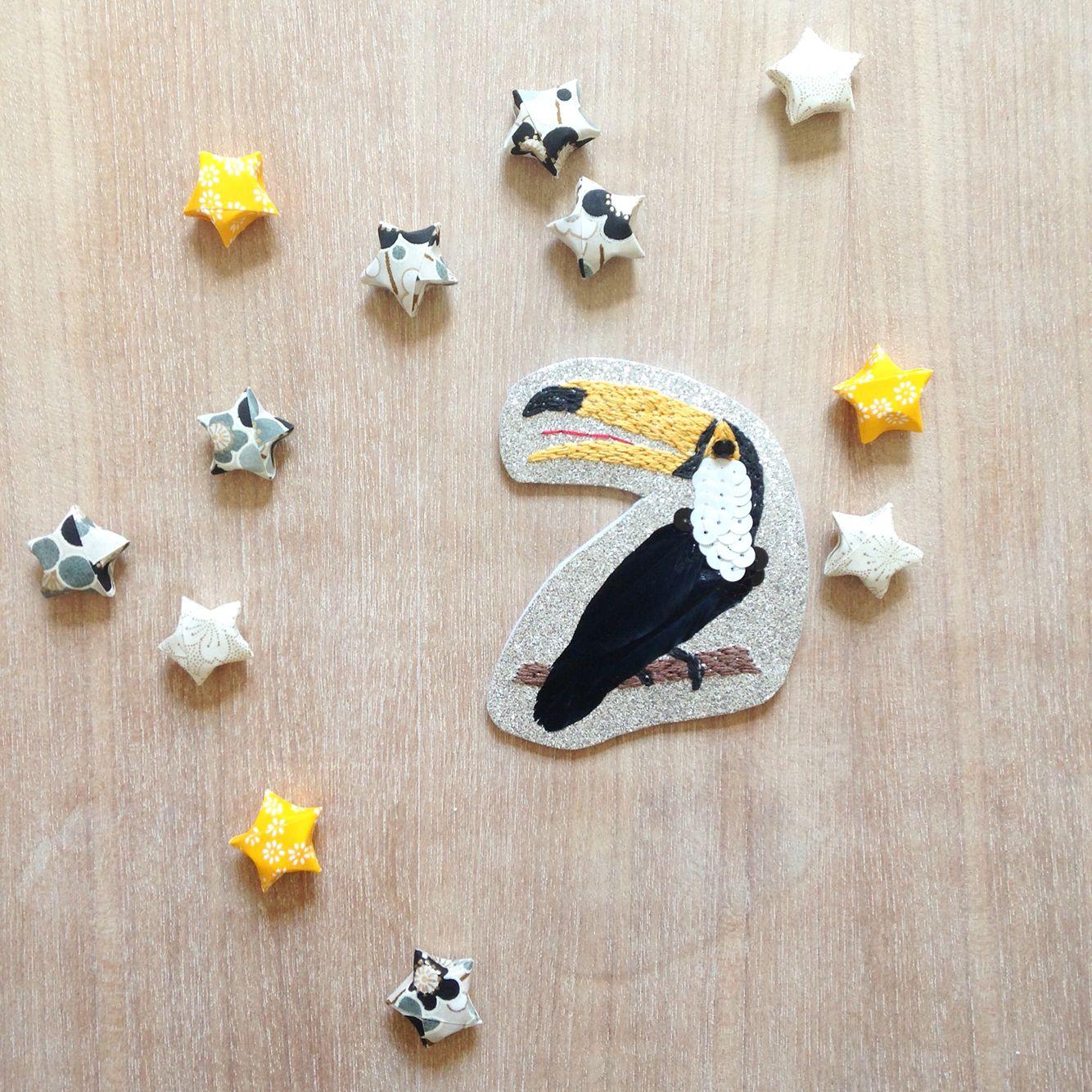 Broche Toucan Parisi Anais - Origami - Étoiles