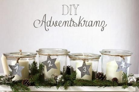 DIY Adventskranz #noel2019bricolage