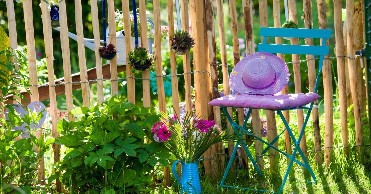 Einen Staketenzaun Aufstellen Zaun Garten Garten Bauerngarten