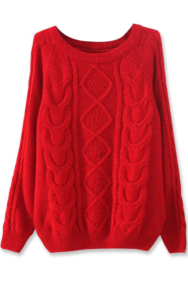Discover Warm Diamond Cable Sweater in from sexy-black-dress.com