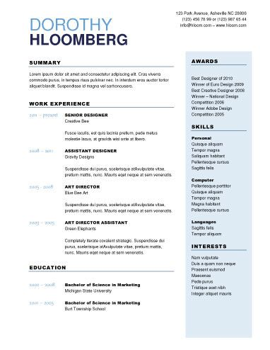 50 Free Microsoft Word Resume Templates for Download Things I love