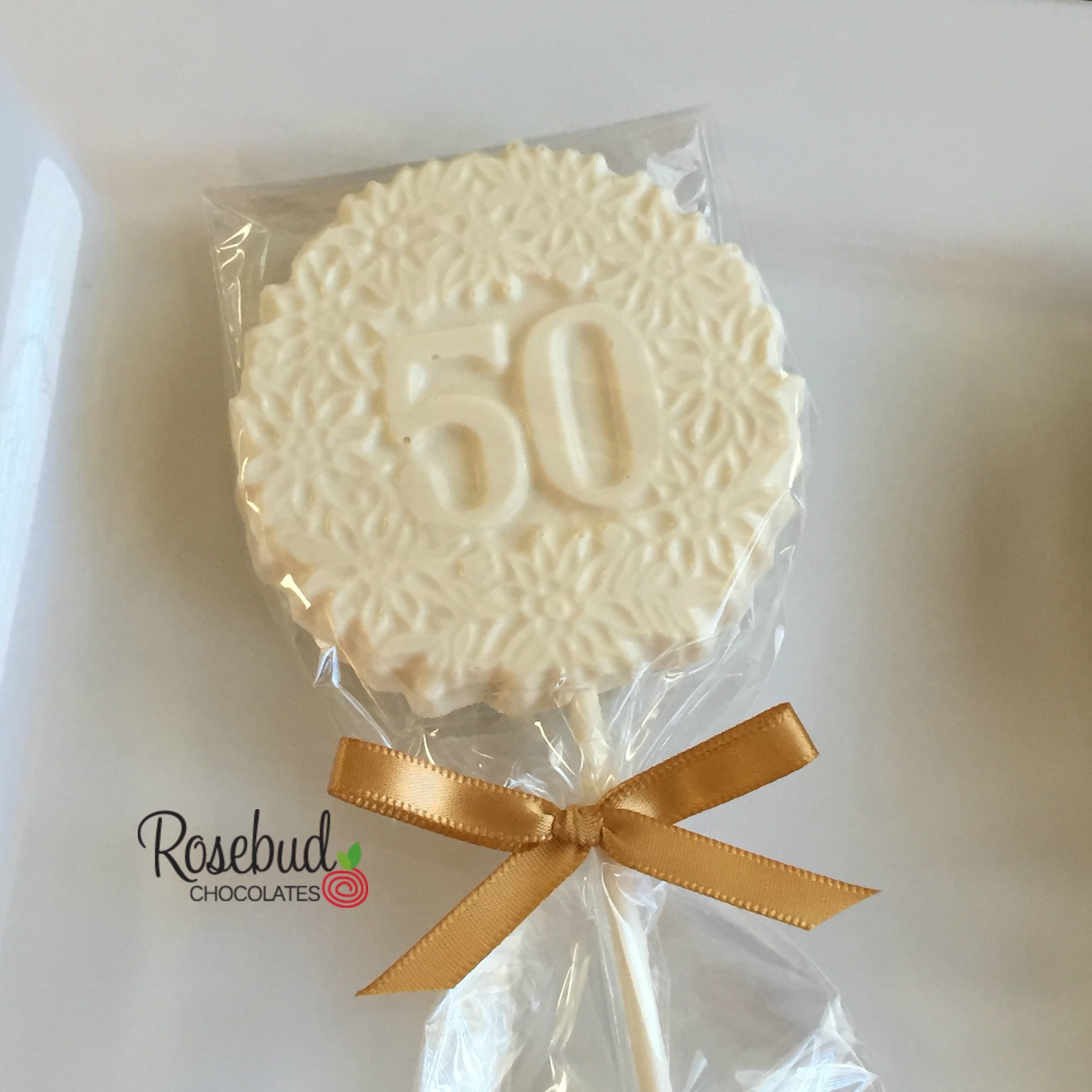 50th Birthday Party Ideas... White Chocolate #50 Decorative Candy ...