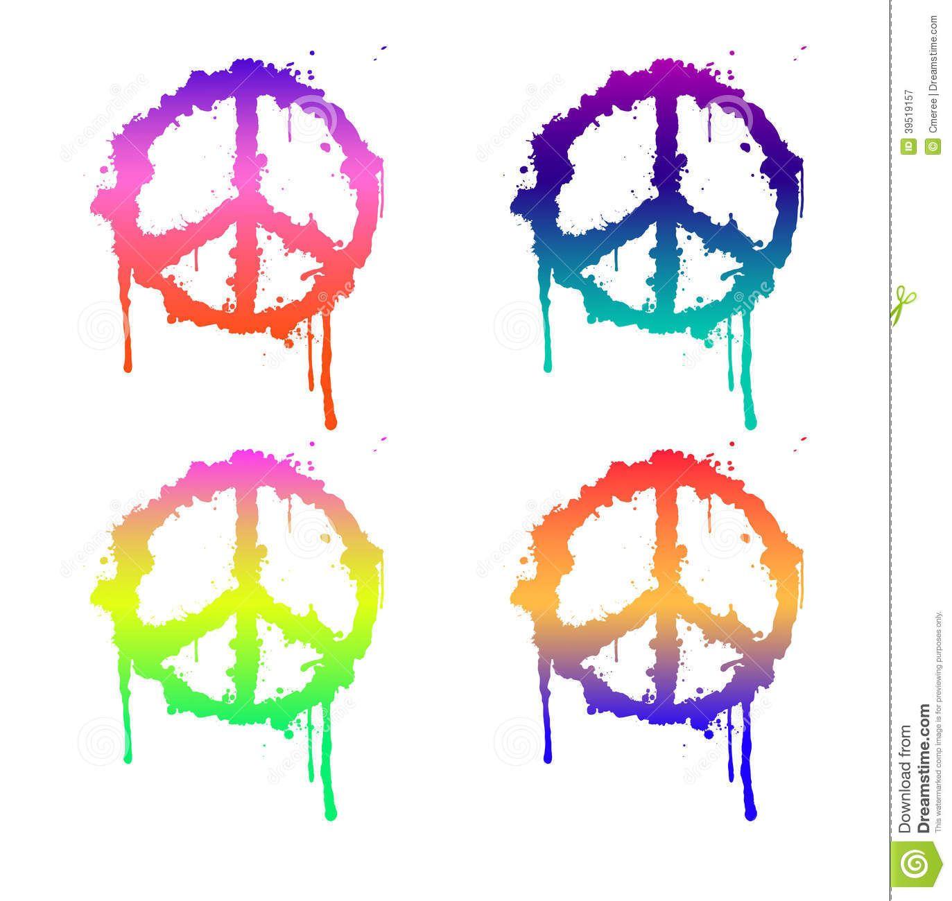 peace-sign-color-four-signs-differen-colours-39519157.jpg (1373×1300)