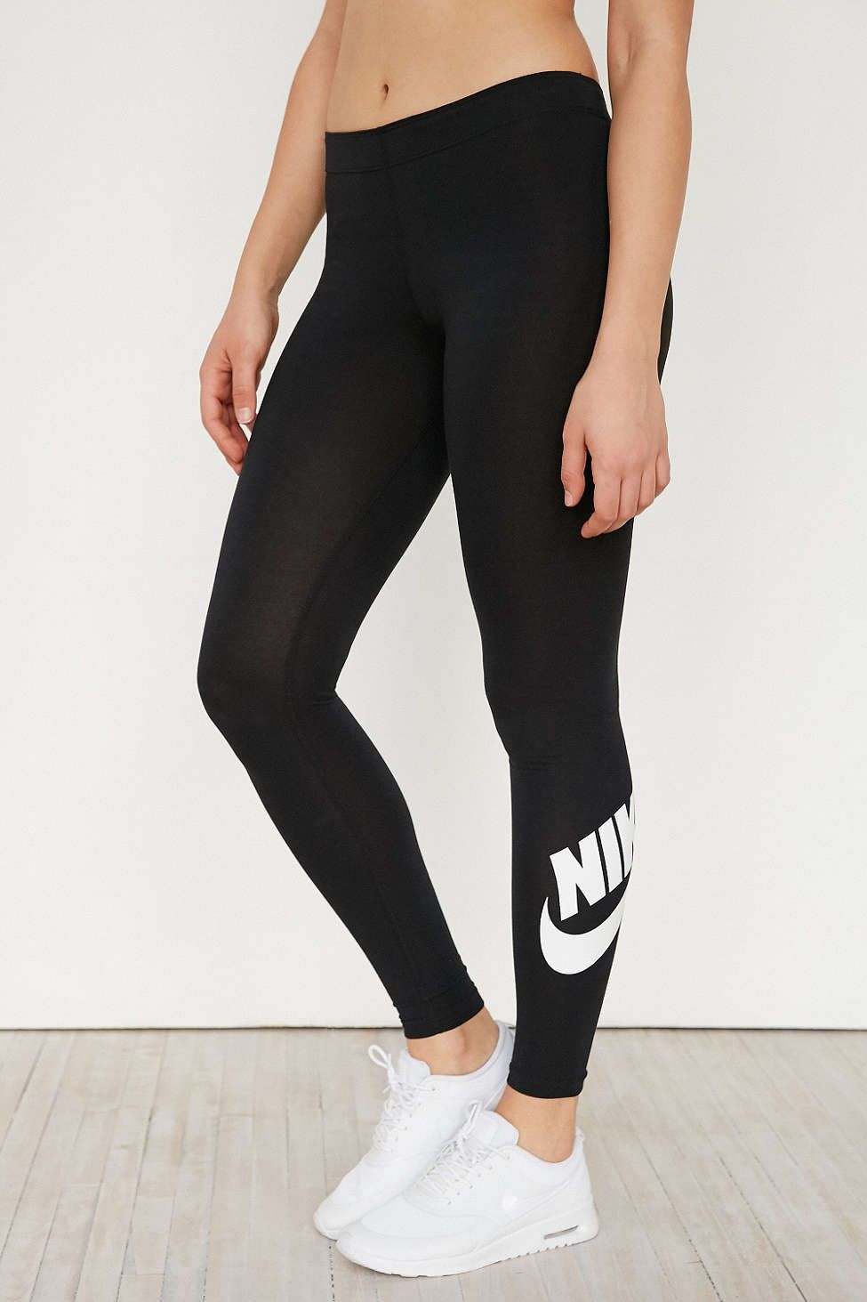 Fitness Women s Clothes - Nike Leg-A-See Logo Legging - Urban Outfitters -  nike womens clothing 0a6d5fc158c