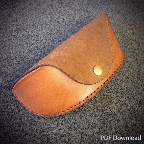 2c3f2b9afb0c PATTERN - Leathercraft PDF Pattern for Leather Glasses/Sunglasses Case -  DIY Pattern
