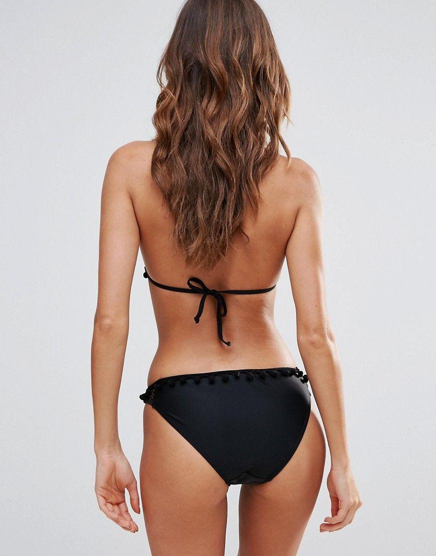 c22b4106fa2b0 Boohoo Mesh And Pom Bikini Brief | Products | Bikinis, Swimwear ...