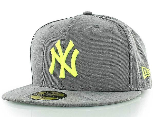 3762538a02f Custom New York Yankees Grey-Volt 59FIfty Fitted Baseball Cap by NEW ERA x  MLB