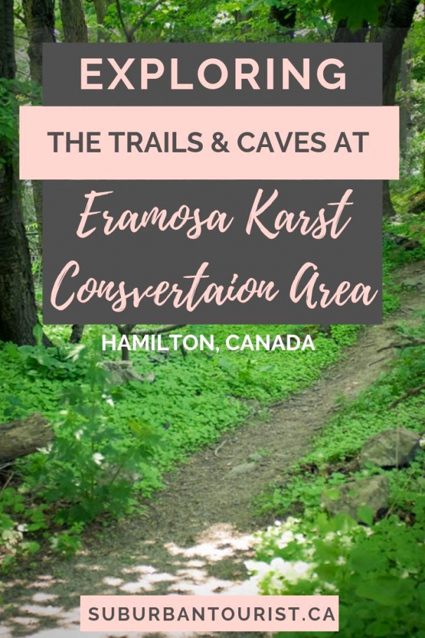 Not far from Toronto just south of Hamilton Ontario is a place where you can check out caves. They're at Eramosa Karst Conservation Area. Exploring the caves and karst geology. #Ontario #Hamilton #geology #hiking #exploring #travelideas #hiking #hiking #ideas