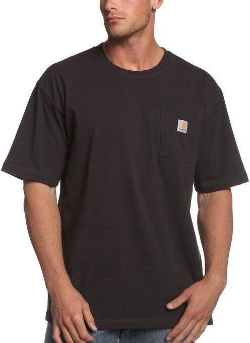 f3bf887be Carhartt Men's Workwear Pocket T-Shirt K87, Black, Small Regular ...