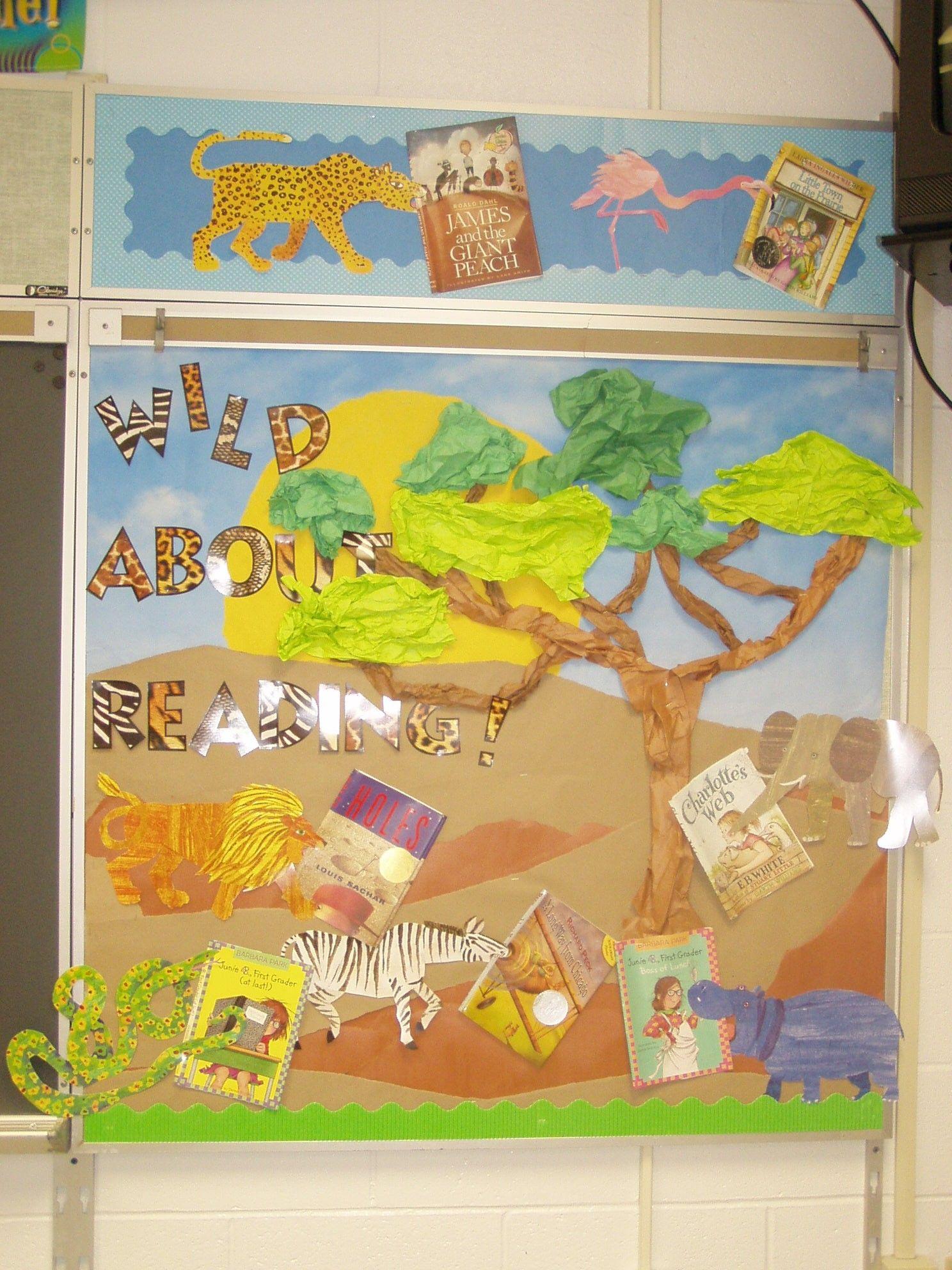 Wild about reading!   Bulletin Board Ideas   Pinterest   Bulletin ...
