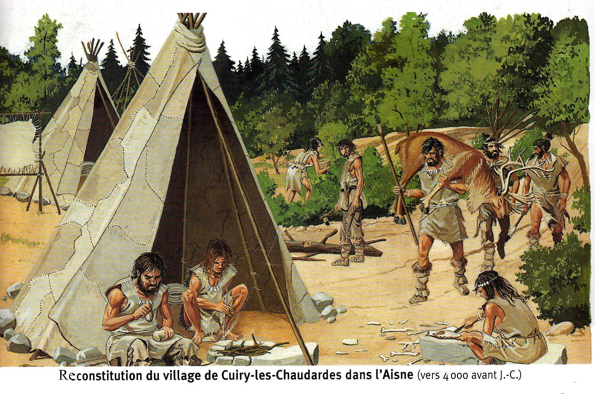 Camp Du Paleolithique Homme Prehistorique Prehistorique Prehistoire