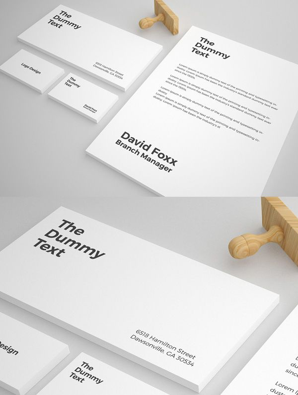 Free Stationary Mockup Psd Template My Art Institute Pinterest