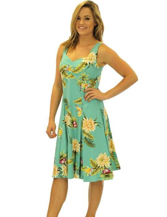 Tropical Short Sundress Rayon Island Ceres #shortsundress