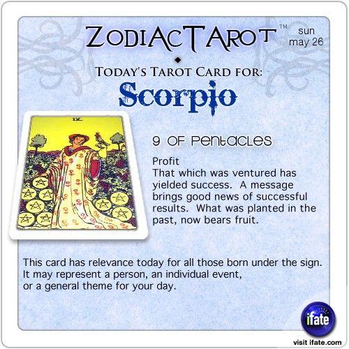 scorpio tarot card today