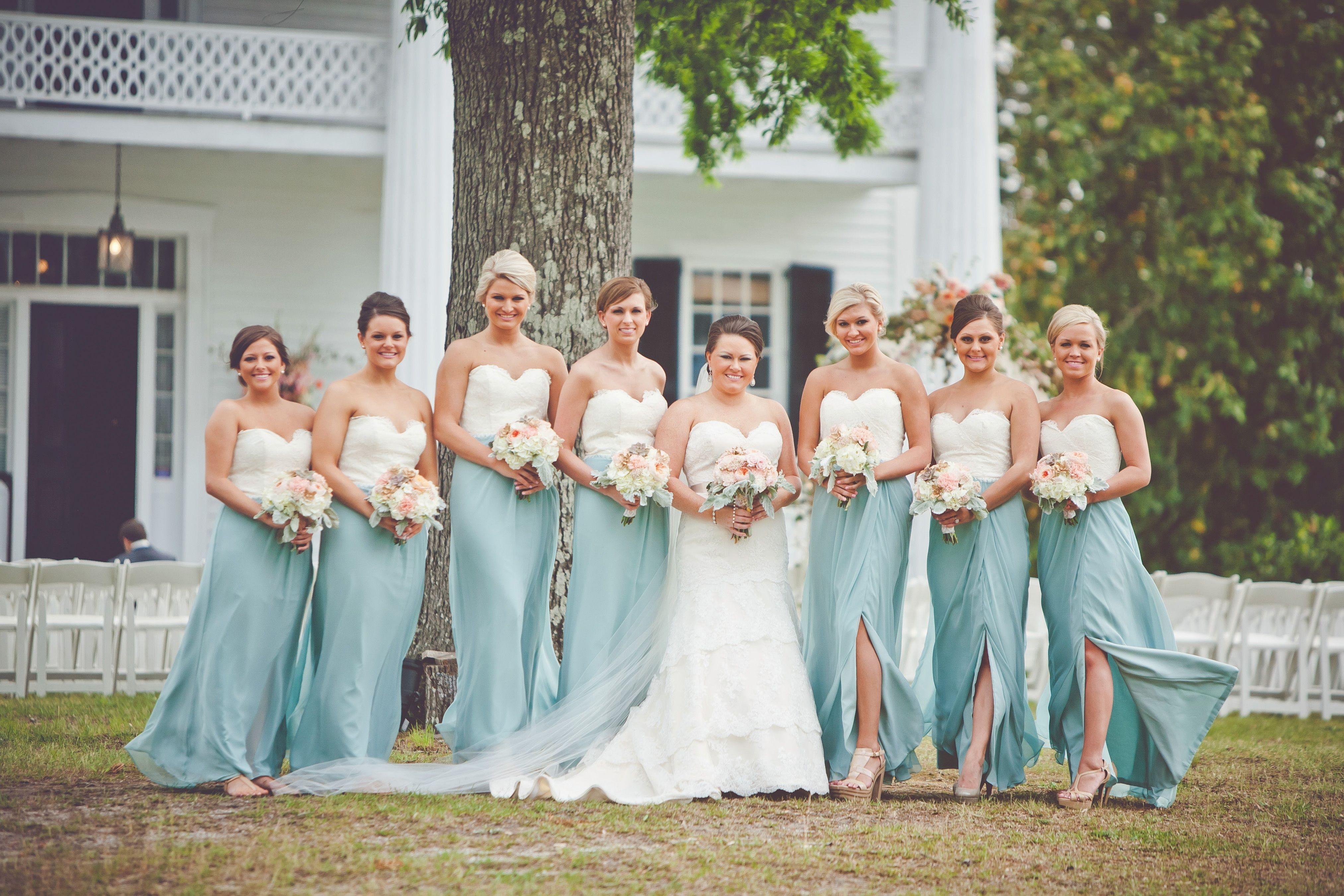 Two Tone Bridesmaid Dresses Beautiful