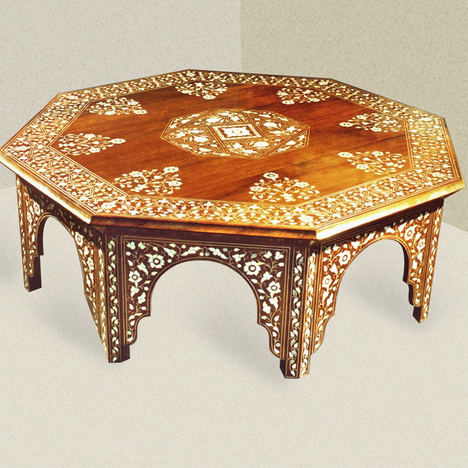 Moroccan Table Lighting Syrian Moroccan coffee table inlaid