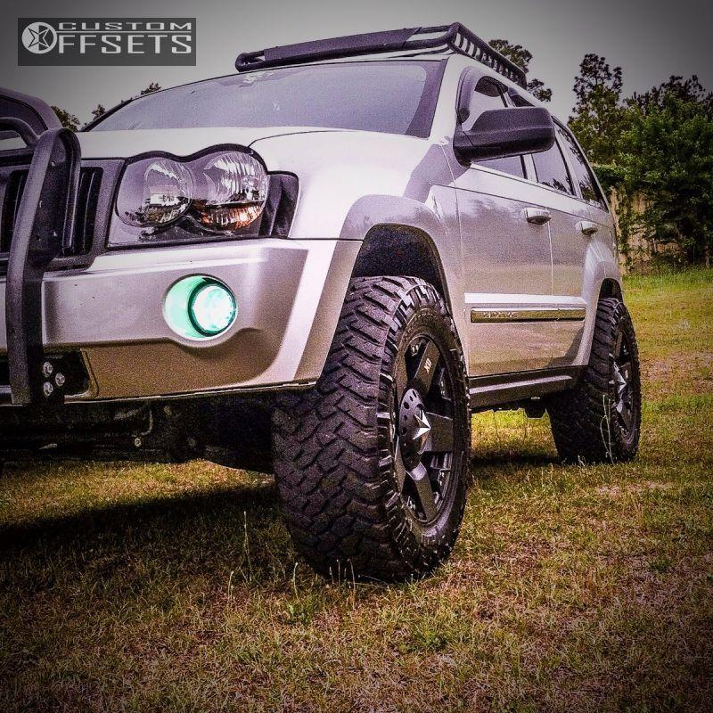 Wheel Offset 2005 Jeep Grand Cherokee Aggressive 1 Outside Fender