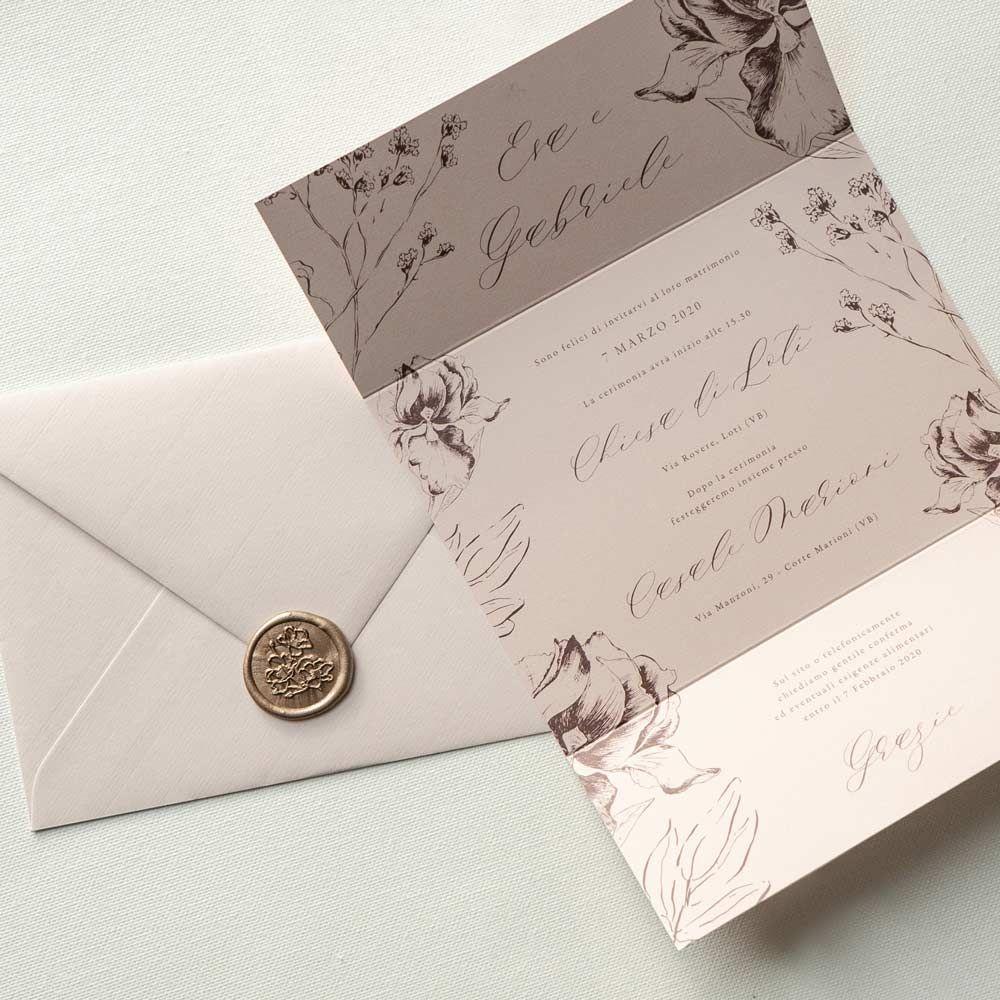 Partecipazioni Matrimonio Nozze Originali Eleganti Semplici Ceralacca Minimal Fiori Countr Nel 2020 Inviti Per Matrimonio Partecipazioni Nozze Centrotavola Matrimoniali