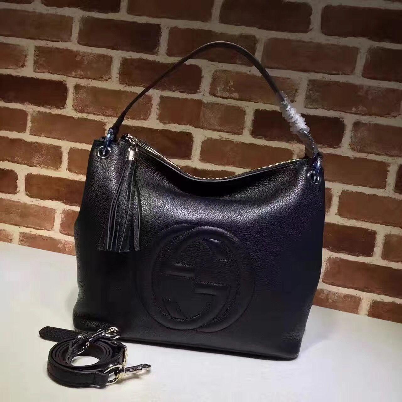 Gucci woman soho hobo bag with strap