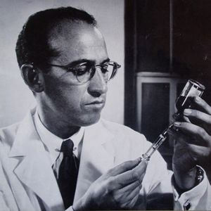 JONAS SALK (1914-1995)  His vaccine for polio eradicated one of the world's worst diseases.