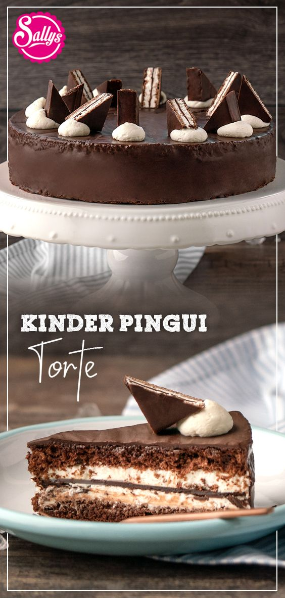 Kinder Pingui Torte / chocolate cake / Schokoladentorte mit Sahnecreme / SALLYS WELT
