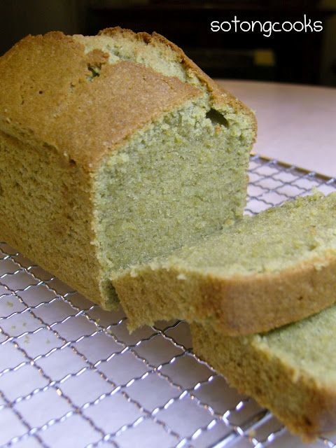 Sotong Cooks - Cooking it my way!: Green Tea Butter Cake
