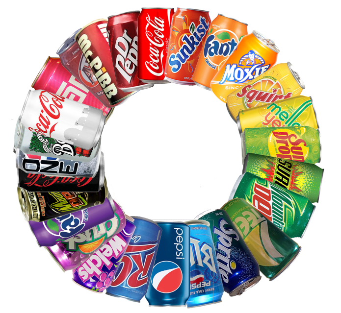 Colorful Drink Cans