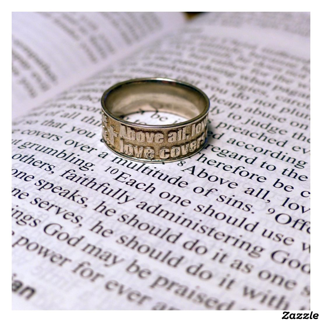 Sterling Silver Bible Verse Ring Rings