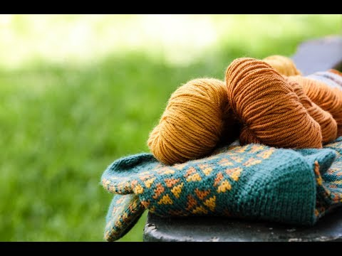 2-ply Ullcentrum selfstriping sport weight wool yarn