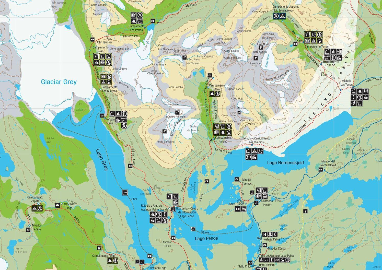 Circuito W Mapa : Hacer el trekking de la w en torres del paine puede plantear muchas