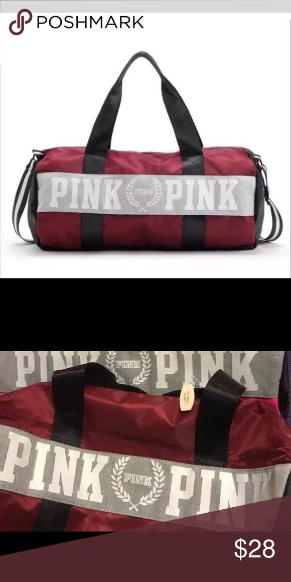 SALE‼️Victoria Secret PINK Dufflebag Gym bag BRAND NEW in original  packaging PINK Victoria Secret Duffle Travel Bag Dimension  21.5