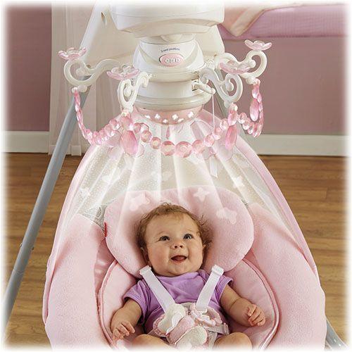 Rose Chandelier Cradle N Swing Cutee Baby Bassinet
