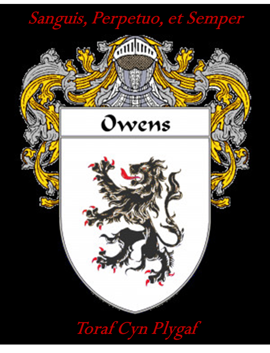 Modified owens crest with welsh family motto toraf cyn plygaf i lee coat of arms ireland bing images buycottarizona
