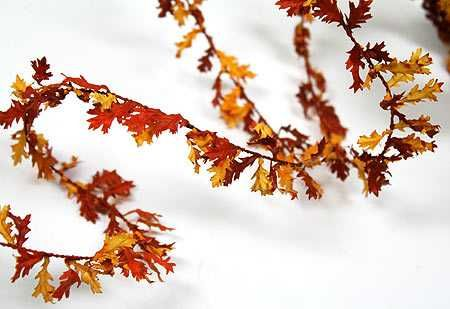 12 Foot Mini Oak Leaf Roping Garland Autumn Fall Harvest Weddings With A Theme Wedding Supplies Oak Leaf Wedding Supplies Floral Supplies