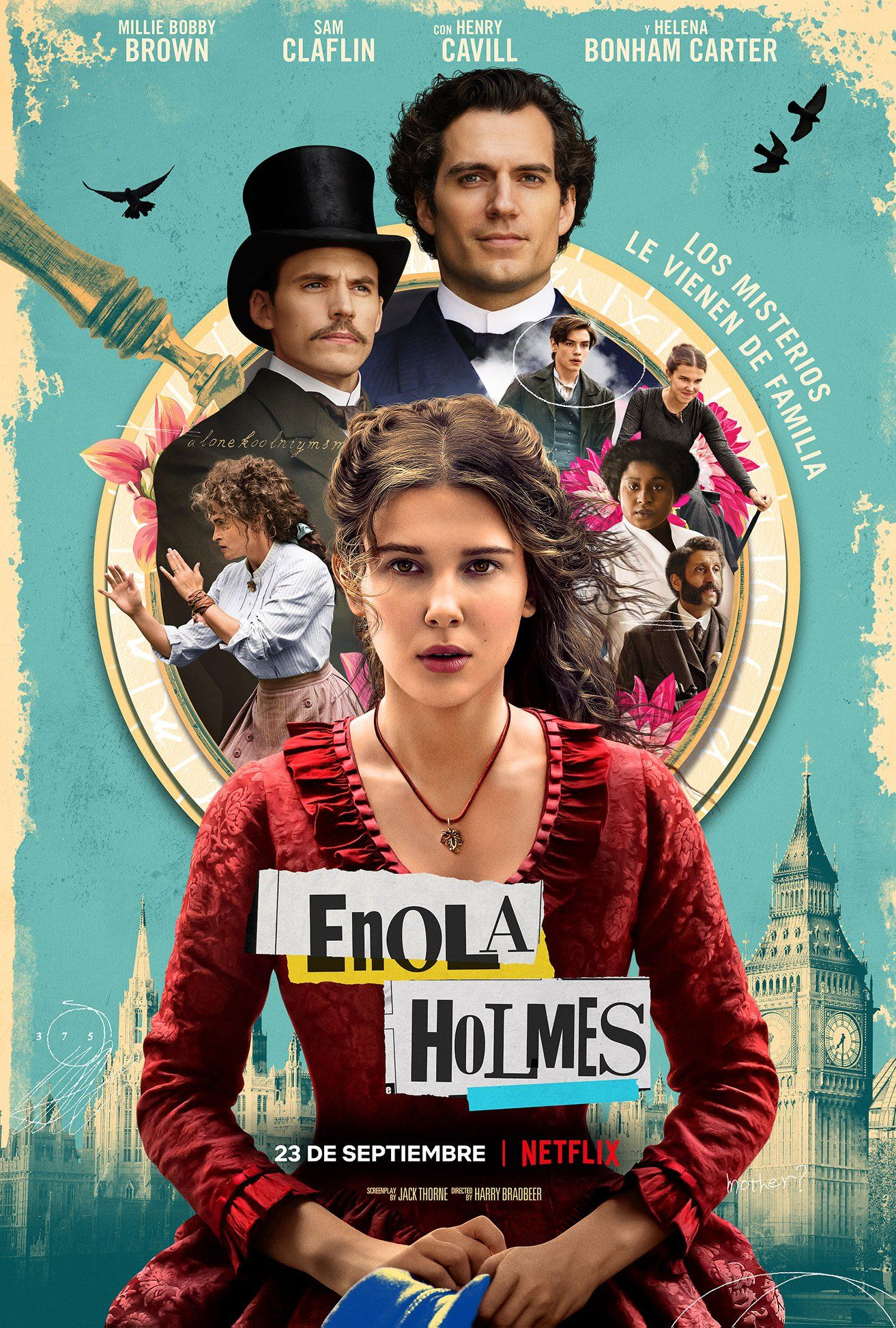 Enola Holmes Lanza Primer Teaser Con Millie Bobby Brown Y Henry Cavill Posteres De Filmes Love Filmes Filmes