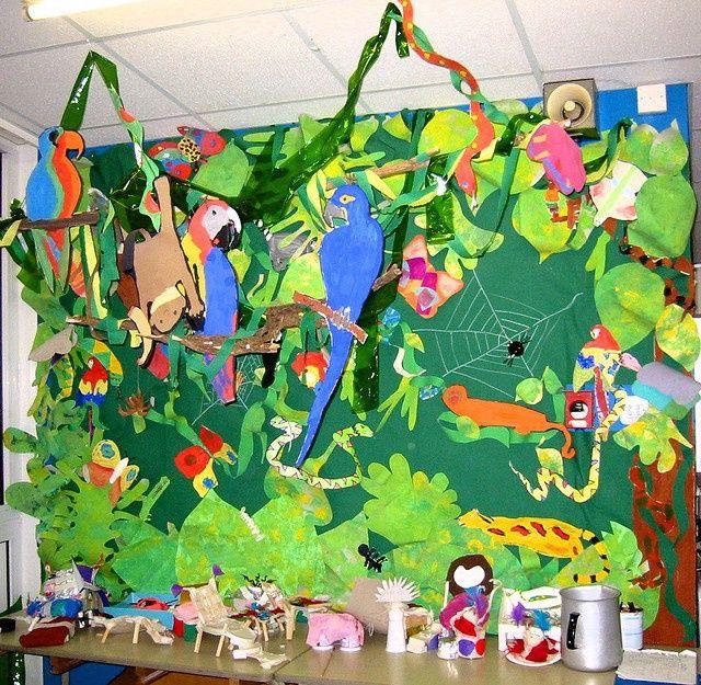Wonderful Rainforest Craft Ideas For Kids Part - 5: Rainforest Bulletin Board Idea For Kids (3) | Crafts And Worksheets For  Preschool,