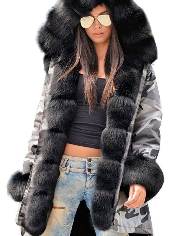 Winter mantel pelz