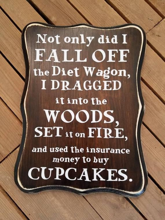 Not only did I fall off the Diet Wagon Wood Sign Kitchen | Etsy