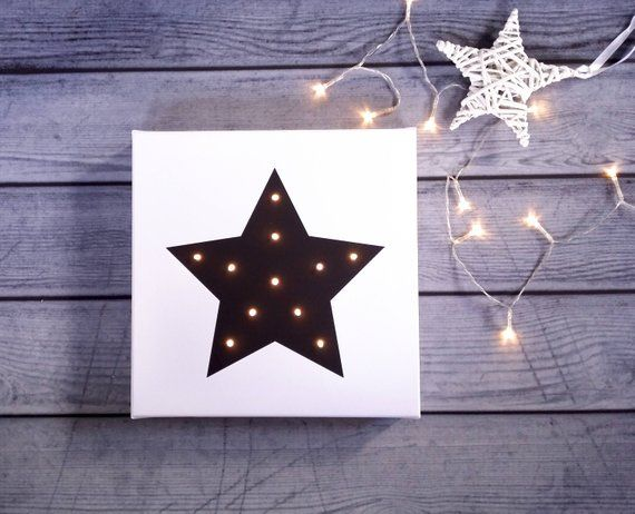 Star Lights Star Decor For Nursery Light Up Star Sign Light Up Star Decor Star Decoration Star Decorations Night Light Kids Nursery Night Light