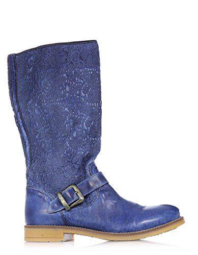 TWIN-SET - Blaue Stiefel , Mädchen, Kind,Damen - http://on-line-kaufen.de/twin-set/twin-set-blaue-stiefel-maedchen-kind-damen