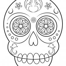 Dibujos De Calaveras Para Colorear Decalaveras Com Calaveras Para Colorear Imagenes De Calavera Calaveras Mexicanas Para Colorear