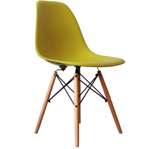 eames inspired mustard dsw style chair eames inspired from only