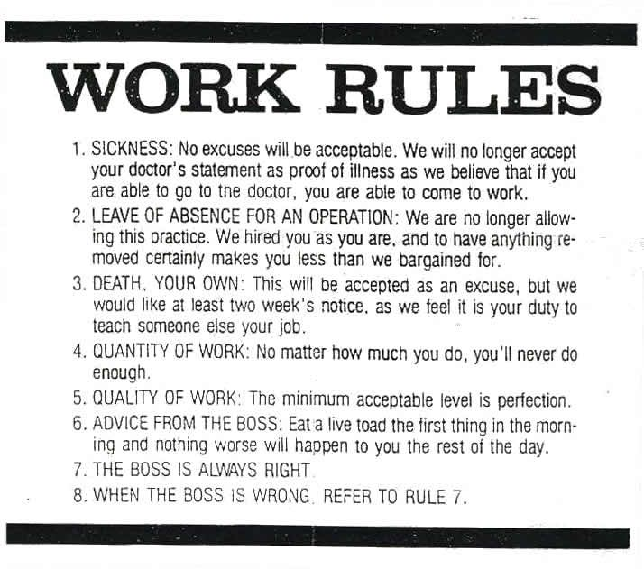 Work Rules With Images Work Stress Quotes Work Quotes Funny