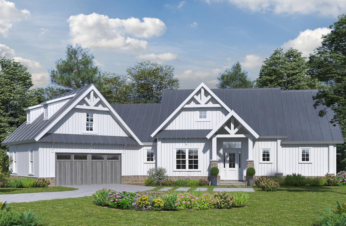 Houseplan 69900102 home ideas Modern farmhouse plans