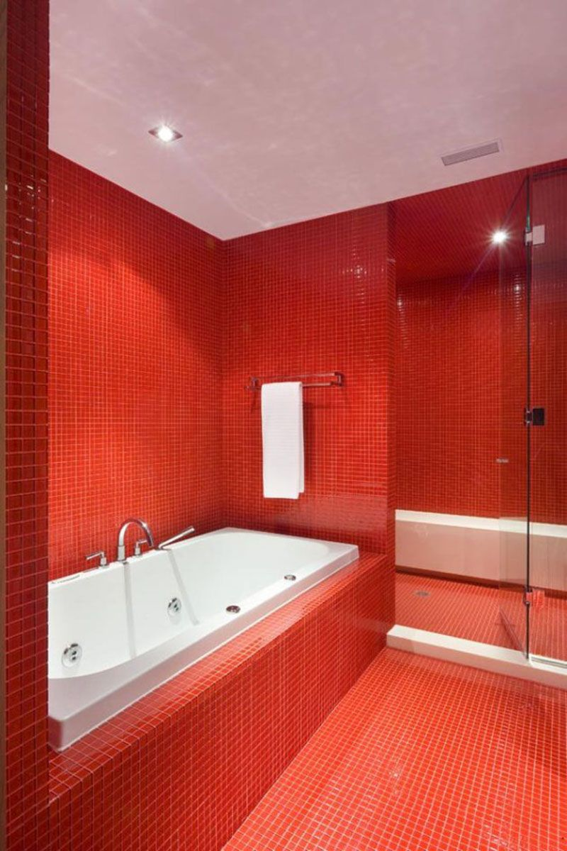 Bathroom Tile Idea Use The Same Tile On The Floors And The Walls Bathroom Red Stylish Bathroom Tile Bathroom