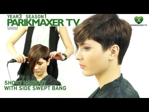 short haircut with side swept short haircut with side swept bangs parikmaxer tv youtube diy solutioingenieria Gallery