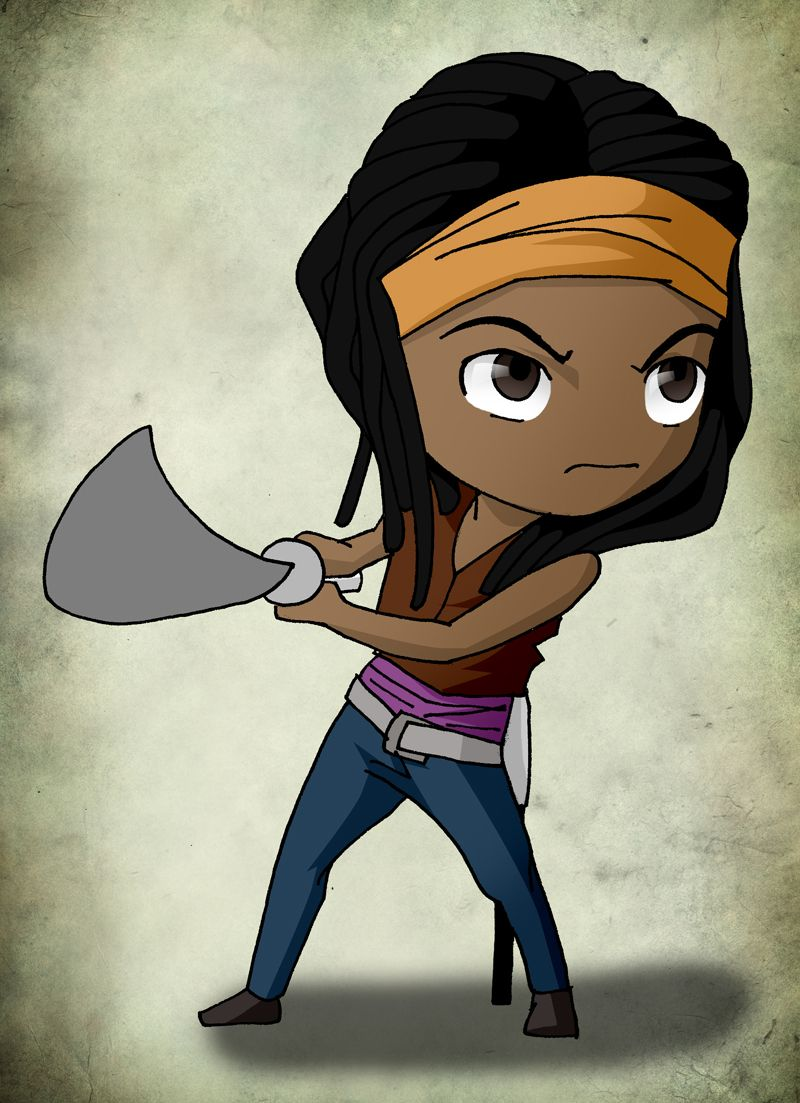 Chibi Art TWD: Michonne by issue53 deviantart com on