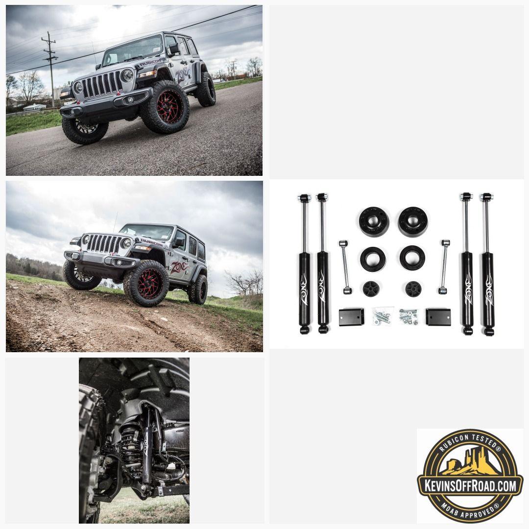 "2"" Lift Kit Zone Offroad Jeep Wrangler JL 2018 Rubicon"