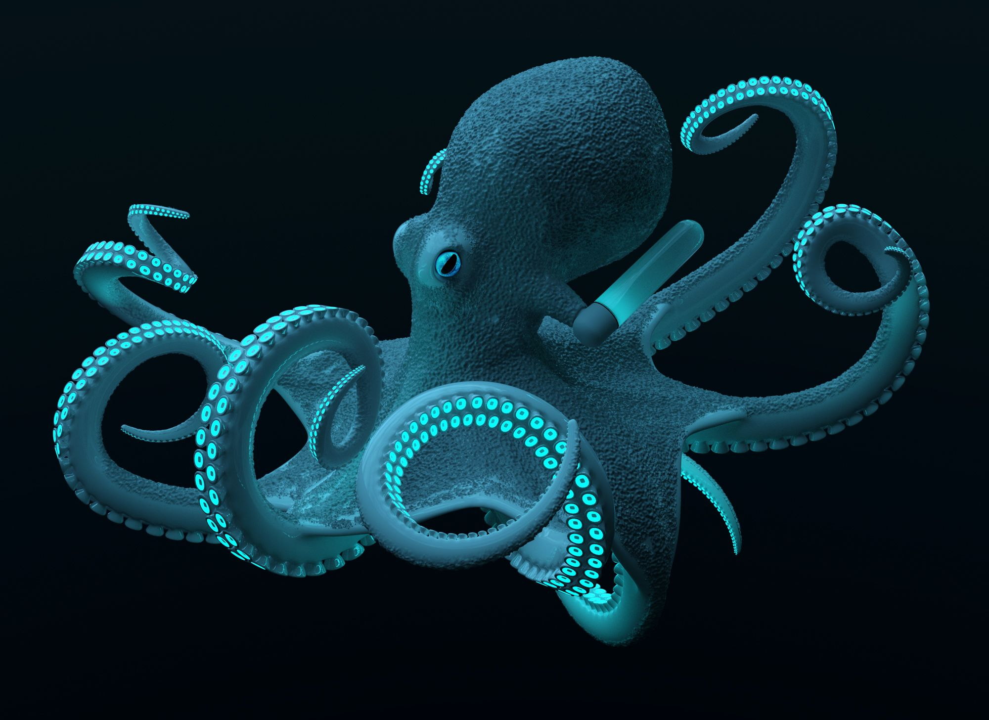 Bright Beautiful Bioluminescence Deep Sea Creatures Deep Sea Life Deep Sea